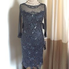 Nordstrom beaded sequin dress size 4 Beautiful beaded sequin dress with mesh sleeves. Size 4 hits above knee brand new with tags! Dresses Wedding