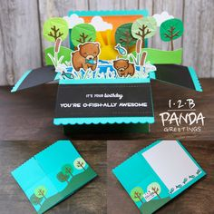Lawn Fawn Dad and Me Box Pop Up birthday card
