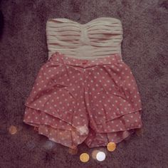 Polka dot shorts <3