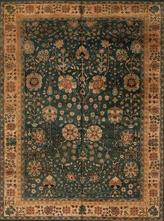One of a Kind - Assorted Traditional - 63546 Indo Persian 88-144 - Samad - Hand Made Carpets Home Rugs, Green Rugs, Persian, This Is Us, Carpets, Traditional, Handmade, Collection, Farmhouse Rugs