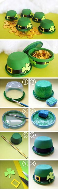 Patrick's Day Hat Favors – 15 Irish-Themed DIY St. Patrick's Day Decorations and Crafts for Kids St. Patrick's Day Hat Favors – 15 Irish-Themed DIY St. Patrick's Day Decorations and Crafts for Kids St Patricks Day Crafts For Kids, Crafts For Kids To Make, Kids Crafts, Diy And Crafts, Arts And Crafts, Food Crafts, Hat Crafts, Crafts For Seniors, Tree Crafts