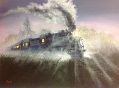 jerry yarnell   Jerry Yarnell lesson of Foggy Departure,16x20 acrylic on canvas by ...