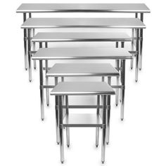 Amazon.com: Gridmann Stainless Steel Commercial Kitchen Prep & Work Table - 48 in. x 24 in.: Kitchen & Dining