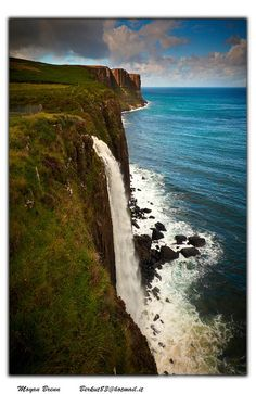 Waterfalls, Kilt Rocks (Isle of Skye, Scotland) I would absolutely LOVE to see this in person--so beautiful!