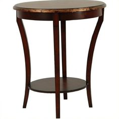 Safavieh Harrison Beidermeir Round Side Table ($139) ❤ liked on Polyvore featuring home, furniture, tables, accent tables, espresso, dark brown end table, colored end tables, round end tables, round table and safavieh furniture