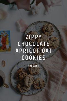 Zippy Chocolate Apricot Oat Cookies Vegan