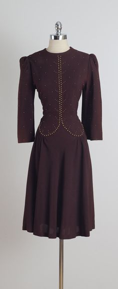 Cliff House . vintage 1940s dress . 1940s by millstreetvintage