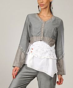Another great find on #zulily! Gray Livia Bolero by L33 by Virginie&Moi #zulilyfinds