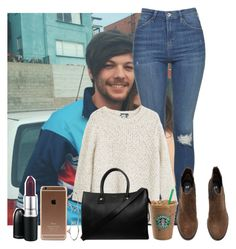 """""""Day in London with Louis"""" by sychie ❤ liked on Polyvore featuring Topshop, MANGO, Zimmermann, H&M, Paul & Joe and MAC Cosmetics"""
