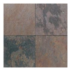 I like this slate but no one else does. American Olean 12-in x 12-in Indian Mulitcolor Slate Floor Tile