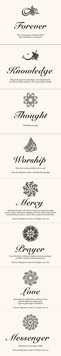 Islamic Symbol Assortment From Around the World Wedding Memorabilia Cards