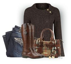 """Untitled #2115"" by sherri-leger ❤ liked on Polyvore featuring Miss Me, Minuet Petite, Burberry, Frye and Roberto Coin"
