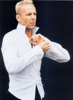 BRUCE WILLIS , in all his glory . and when he smiles .....