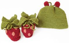Berry Booties & Hat for Baby...from Morehouse Farm