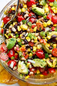 Chili Lime Texas Caviar (also known as Cowboy Caviar) is the BEST salad, side dish or appetiser for any occasion! Vegan AND gluten free!