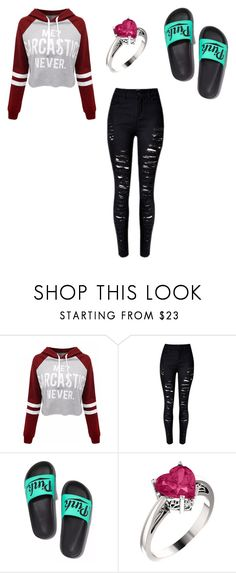 """""""Untitled #1"""" by zoey-urquhart ❤ liked on Polyvore featuring WithChic and Victoria's Secret"""