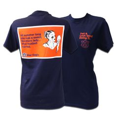 It would be awesome if they had this in maroon & white...a perfect A T-Shirt! Yell & Look Good Au | Auburn University Bookstore