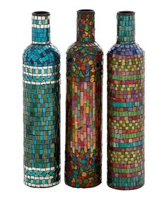 Look at this Narrow Mosaic Bottle Set on #zulily today!