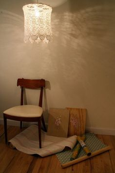 Vintage lace light shade