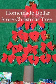 Homemade Dollar Store Christmas Tree Christmas Craft -http://www.tidbitsofexperience.com/wp-content/uploads/2015/11/Homemade-Dollar-Store-Christmas-Tree-640x960.jpg http://www.tidbitsofexperience.com/homemade-dollar-store-christmas-tree/