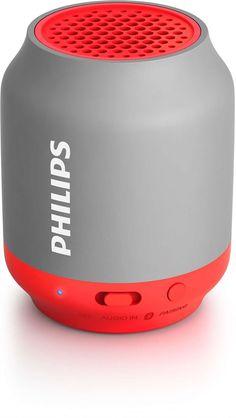 Philips BT50G Taşınabilir Kablosuz Kırmızı Bluetooth Hoparlör Ses Bombası(H12.BT50G)