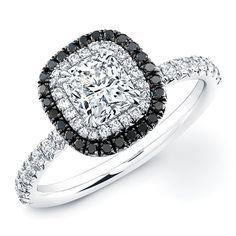 black and white bridal ring set - Google Search