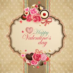 beautiful vintage valentines day card design vector free vector graphics