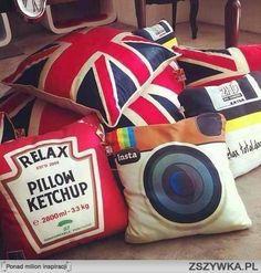 Quirky throw pillows