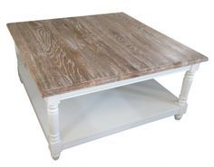 French Chateau White Square Oak Coffee Table with Washed Wood Top http://www.la-maison-chic.co.uk/direct-from-the-makers/french-chateau-white-square-oak-coffee-table--French_Chateau_White_Square_Oak_Coffee_Table.html
