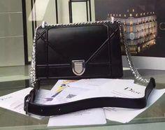 Dior Medium Diorama Lambskin Flap Bag in Black Dior Diorama Bag, Chanel Boy Bag, Bag Sale, Shoulder Bag, Medium, Fashion, Moda, Fashion Styles, Shoulder Bags