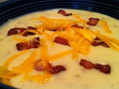 Delicious Potato Soup - In The Crockpot! at Feeding Big This soup is easy to make and inexpensive too!  http://feedingbig.com/2012/10/delicious-potato-soup-in-crockpot.html