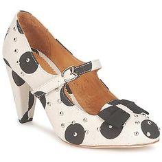 Court-shoes Maloles CLARITA White / Black - spartoo.co.uk