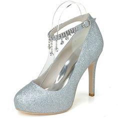 Women's Wedding Shoes Heels/Platform/Round Toe Heels Wedding/Party & Evening Blue/Pink/Silver/Gold 2015 – $39.99