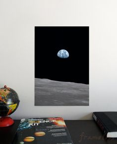 Earthrise 19 x 13 Poster Science Astronomy Wall by frameitposters Kids Room Art, Personalized T Shirts, Banksy, Astronomy Posters, Nursery Decor, Wall Art Prints, Graffiti, Street Art, Science
