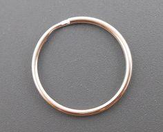 20 Keychain Rings split ring silver key chain key ring (H1074)