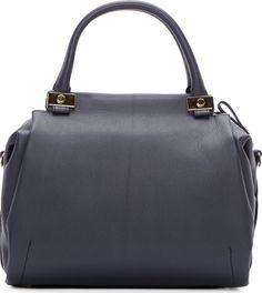 Lanvin Night Blue Trilogy Bowling Bag