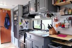 Couple Renovate Travel Trailer into Nomadic DIY Tiny Home 007