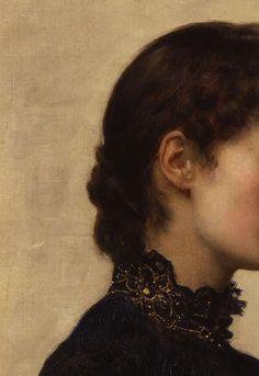 "sollertias: "" Marion Collier (née Huxley) by John Collier, 1883 (detail) """