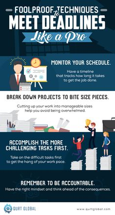 How to properly manage multiple projects and deadlines. Like A Pro, You Working, Get The Job, Infographics, Competition, Acting, Challenges, Take That, How To Get