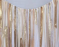 Ribbon Backdrop Photo prop Shabby Rustic Chic by ohMYcharley