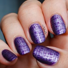"""PhD nails: 30 Days of Colour: monochromatic nail art with Zoya Savita and stamping Bissu Galactica """"Matte and metallic purple"""""""