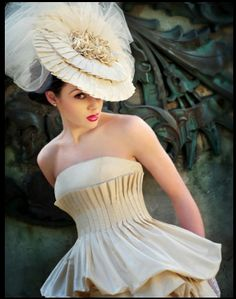 Karen Hendrix Couture 2012 collection. Great hat!