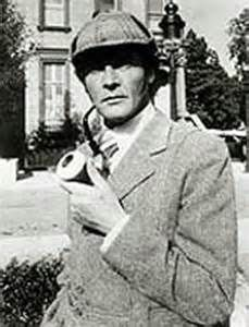 Roger Moore. Will the real Sherlock Holmes please stand up