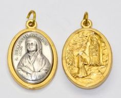 Gold and Silver Pendants and Medals depicting Our Lady of Lourdes the Apparitions and St. Christopher with the image of the apparitions on the reverse. Silver Pendants, Gold Pendant, Catholic Medals, Our Lady Of Lourdes, Silver Charms