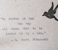 F Scott Fitzgerald Love Quote Cards x 3 Hand Typed on Vintage Typewriter by BookishGifts on Etsy