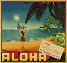 Reduced prices, check out. Vintage Labels, Vintage Postcards, Vintage Ads, Label Art, Orange Crate Labels, Vegetable Crates, Vintage Hawaiian, Hawaiian Islands, Vintage Travel Posters