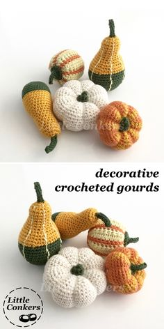 These beautiful seasonal accents are hand-crocheted in natural fibres.