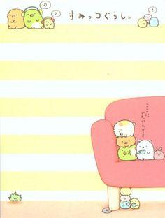 pink Sumikkogurashi animal in corner couch mini Note Pad 3
