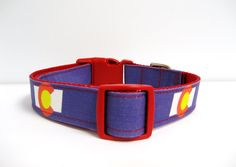 Colorado Flag Adjustable Dog Collar  1 by MuttsandMittens on Etsy
