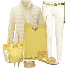 """""""H Ankle Jeans"""" by arjanadesign on Polyvore  Nice summer evening outfit"""